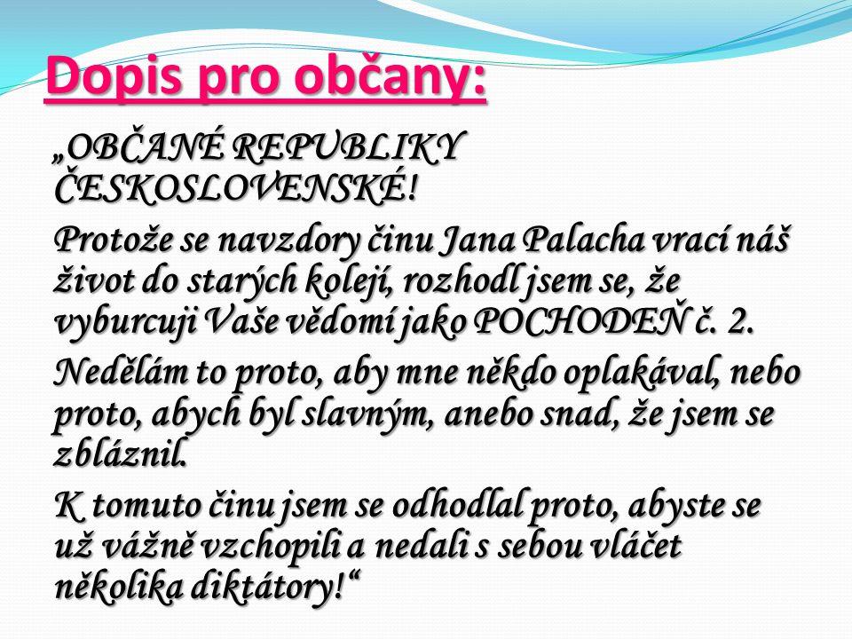 """Dopis pro občany: """"OBČANÉ REPUBLIKY ČESKOSLOVENSKÉ."""