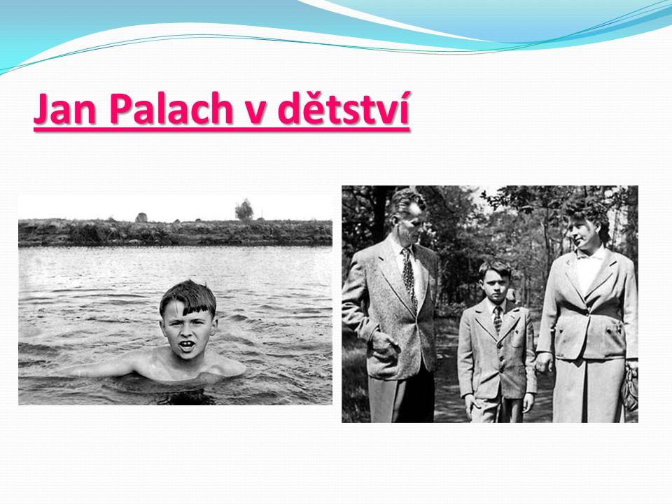 Jan Palach v dětství