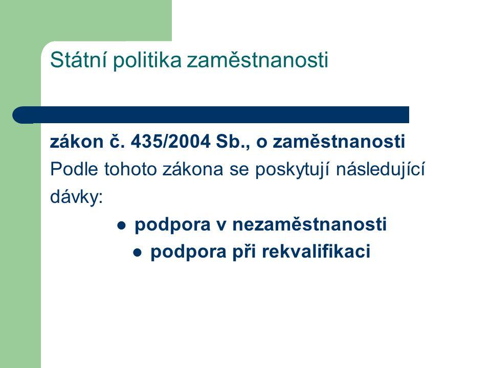 Státní politika zaměstnanosti zákon č.