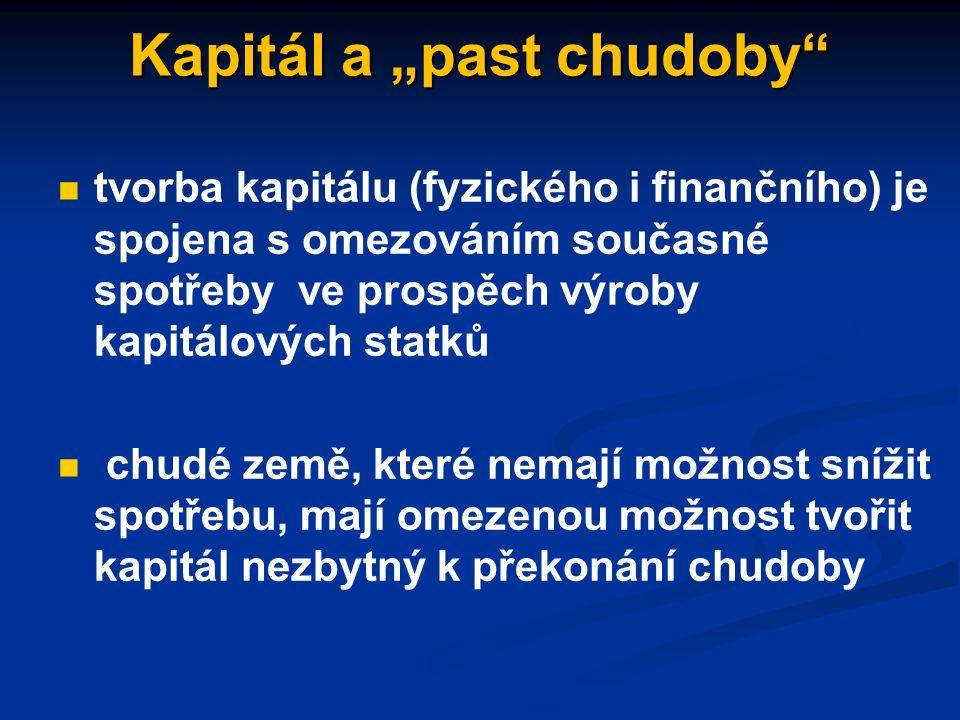 Finanční kapitál představuje volné (uspořené) finanční prostředky sloužící jako zdroj pro pořízení fyzického kapitálu představuje volné (uspořené) finanční prostředky sloužící jako zdroj pro pořízení fyzického kapitálu je obchodován na kapitálových trzích, kde se střetává nabídka úspor vytvářená domácnostmi s poptávkou po úsporách ze strany firem je obchodován na kapitálových trzích, kde se střetává nabídka úspor vytvářená domácnostmi s poptávkou po úsporách ze strany firem