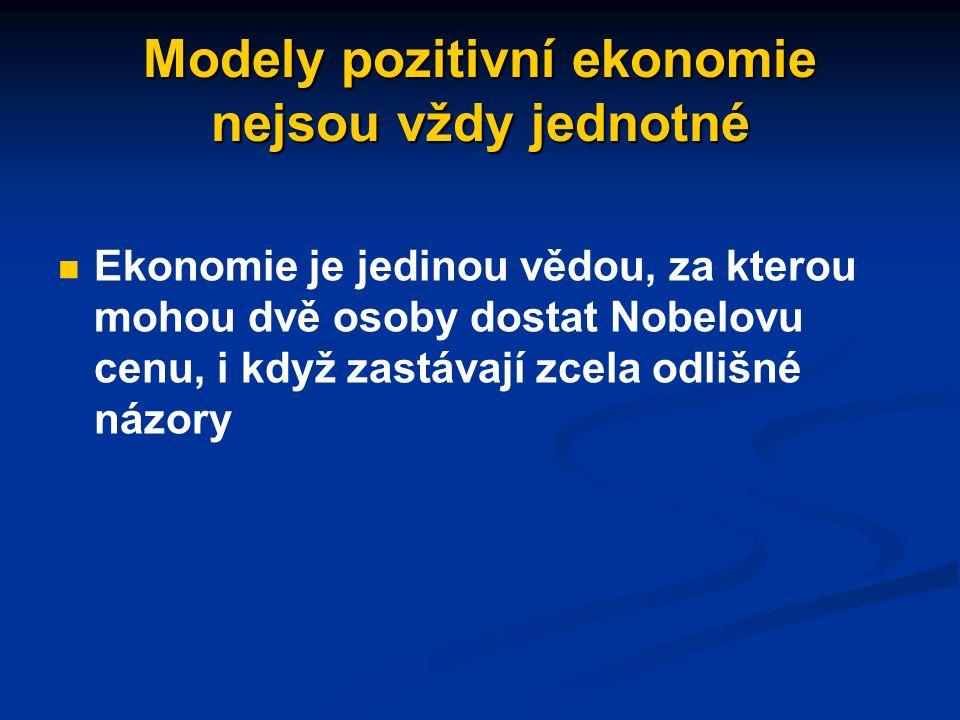 """Model """"Homo oeconomicus příkladem jednoduchého ekonomického modelu je Homo oeconomicus příkladem jednoduchého ekonomického modelu je Homo oeconomicus jde o zjednodušenou představu o lidském rozhodování, podle které se lidé rozhodují tak, aby dosáhli co nejvyššího osobního užitku jde o zjednodušenou představu o lidském rozhodování, podle které se lidé rozhodují tak, aby dosáhli co nejvyššího osobního užitku predikce na základě modelu: lidé budou (v určité situaci) reagovat především na základě ekonomických stimulů predikce na základě modelu: lidé budou (v určité situaci) reagovat především na základě ekonomických stimulů"""