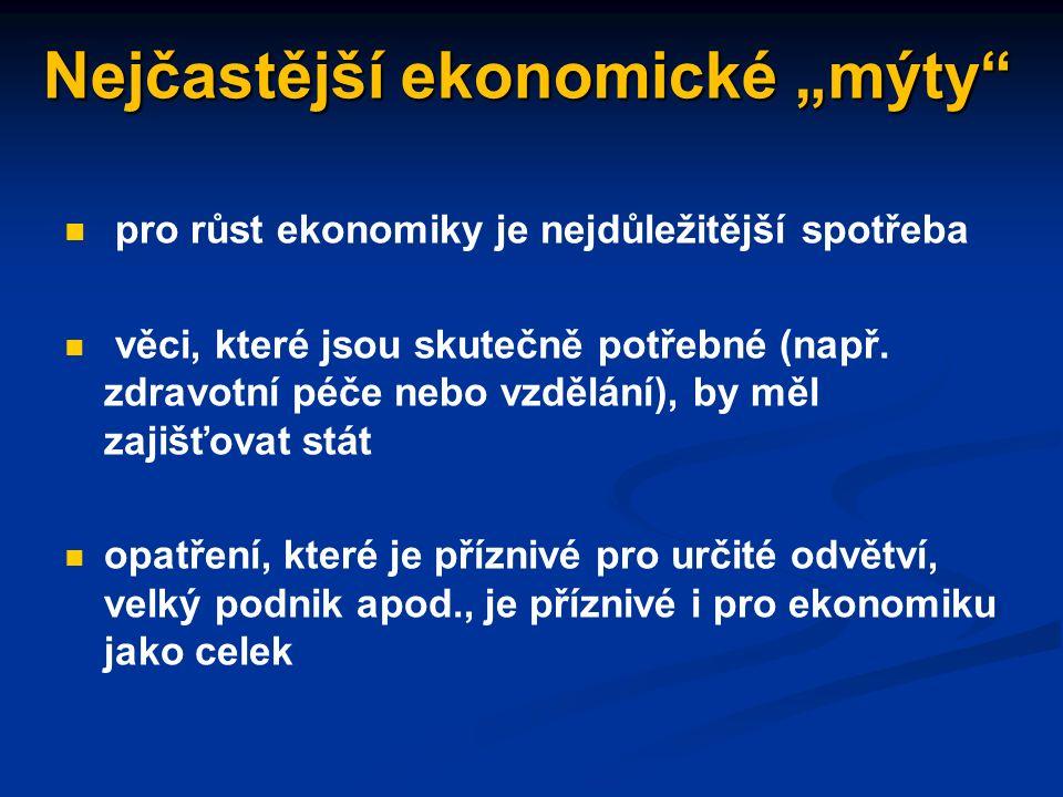 """Chyby v ekonomickém uvažování klam """"post hoc ergo propter hoc"""" nedodržení ceteris paribus - předpokladu neměnnosti ostatních podmínek chyba složení: c"""