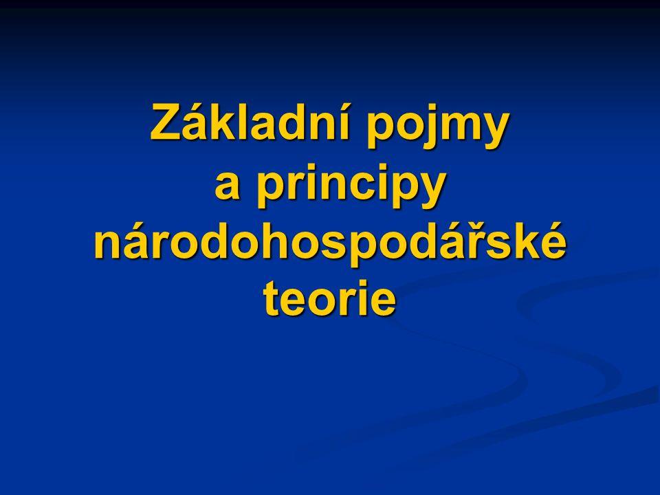 Základní pojmy a principy národohospodářské teorie