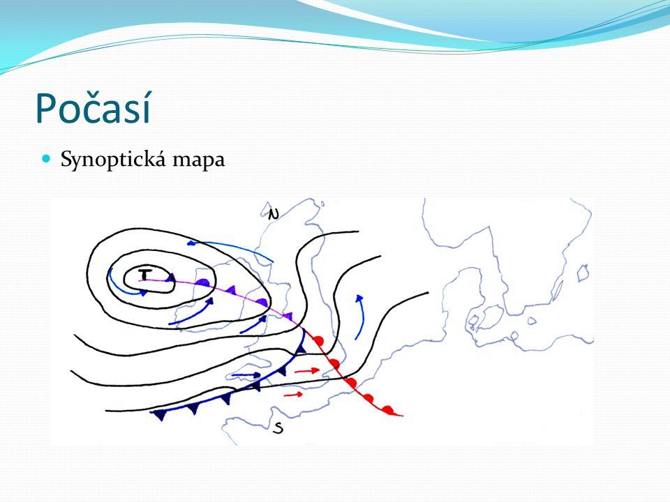 Počasí Synoptická mapa