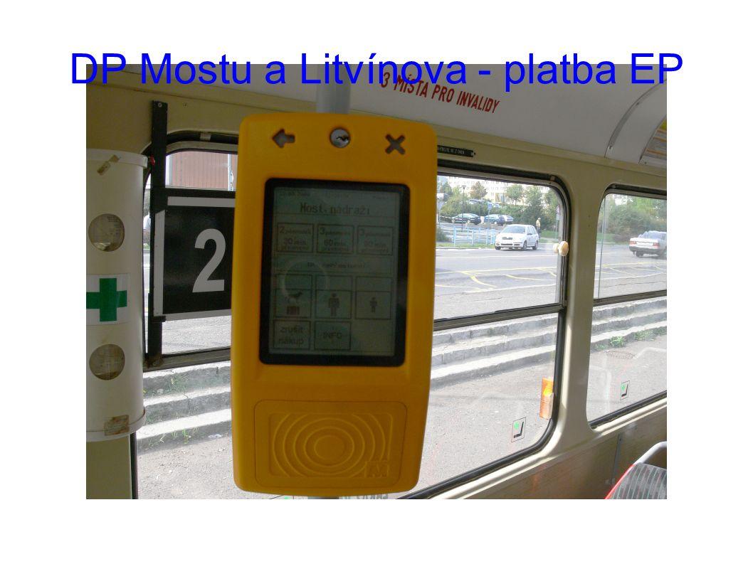 DP Mostu a Litvínova - platba EP