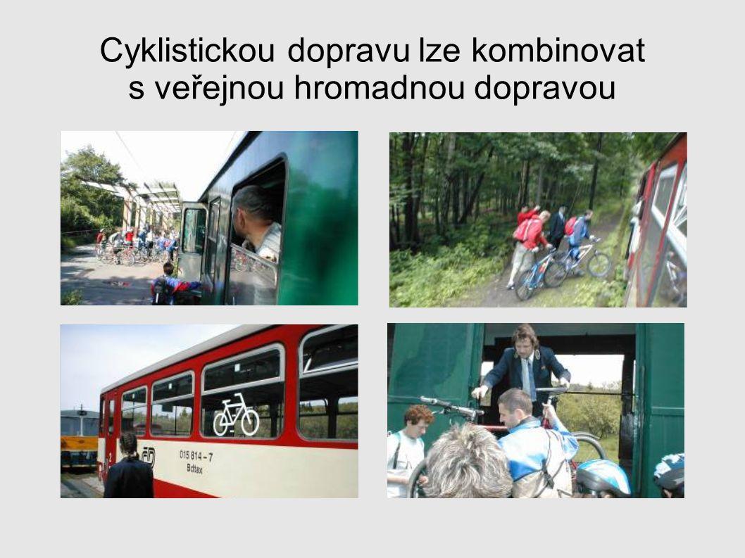Cyklistickou dopravu lze kombinovat s veřejnou hromadnou dopravou