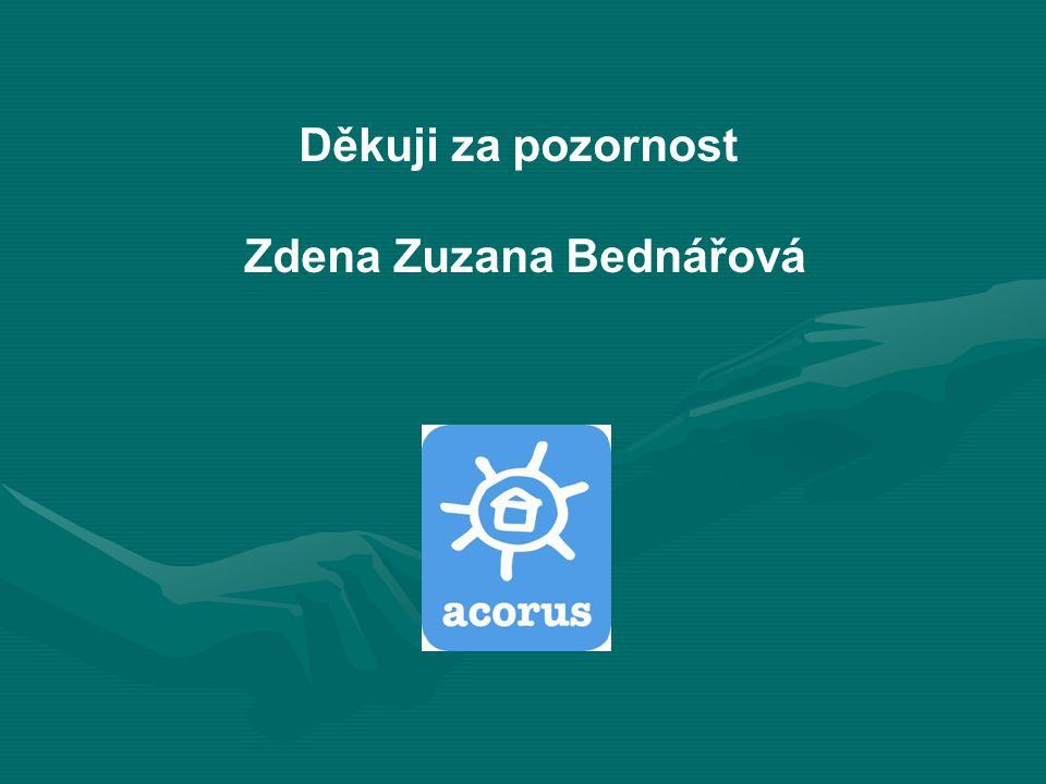 Děkuji za pozornost Zdena Zuzana Bednářová