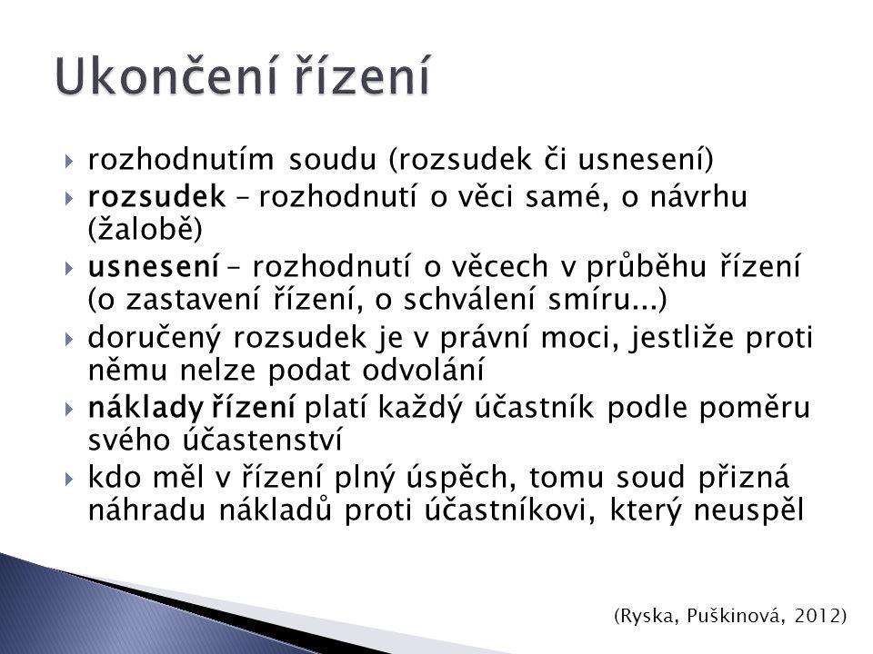 (Ryska, Puškinová, 2012) odvolání obnova řízení dovolání