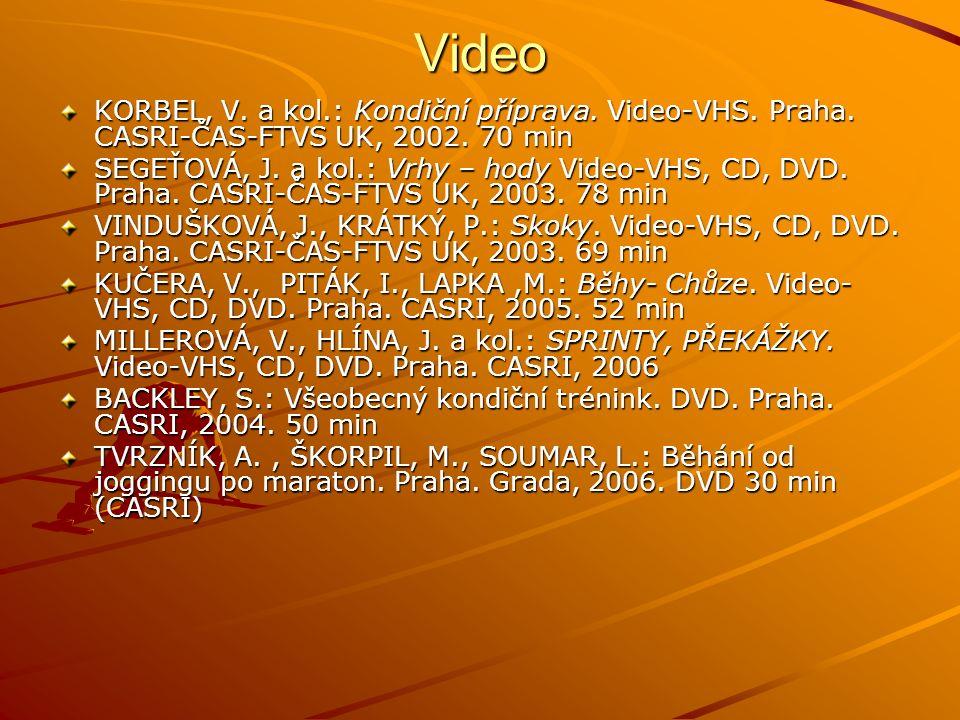 Video KORBEL, V.a kol.: Kondiční příprava. Video-VHS.