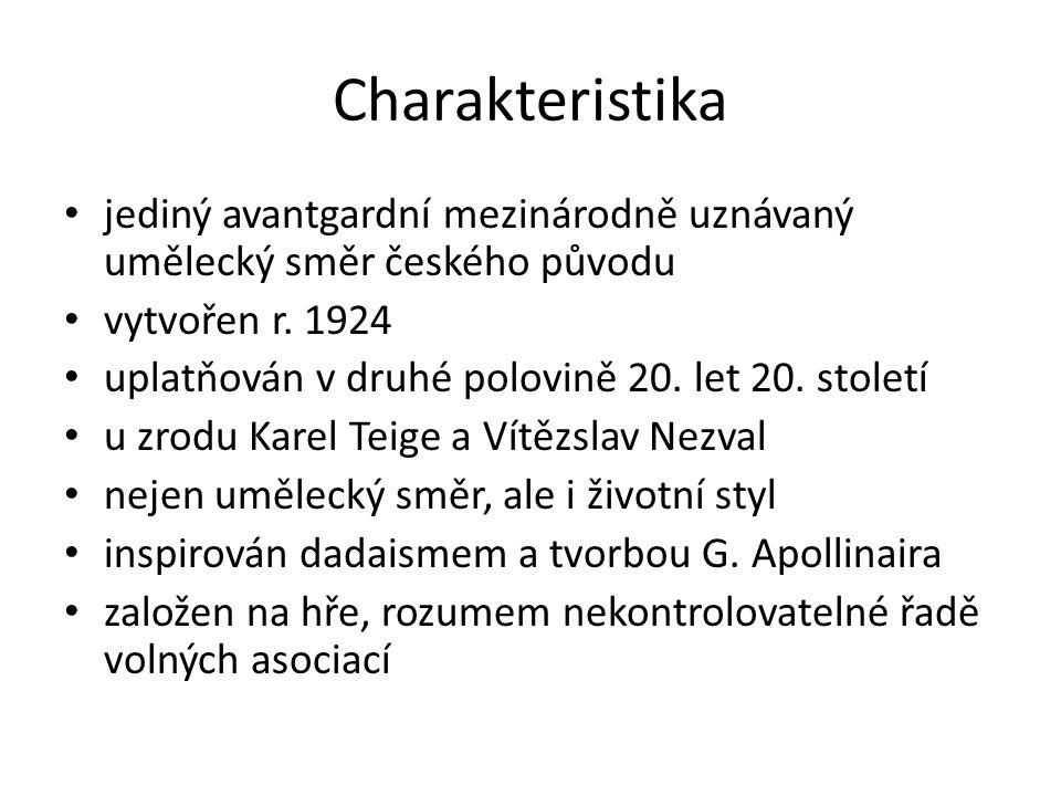Charakteristika jediný avantgardní mezinárodně uznávaný umělecký směr českého původu vytvořen r.