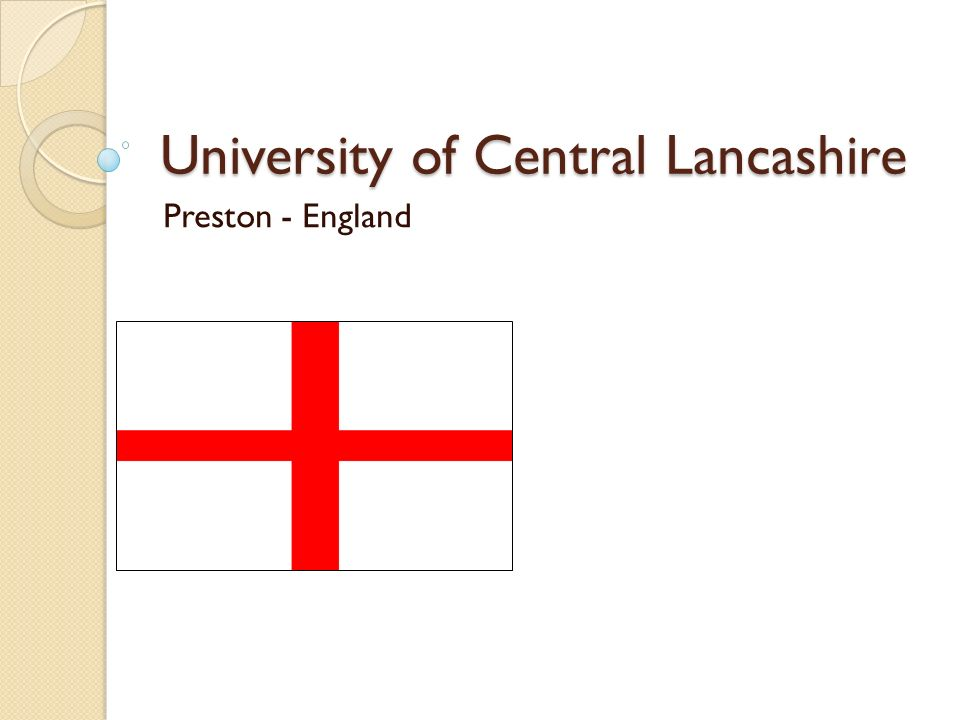 University of Central Lancashire Preston - England