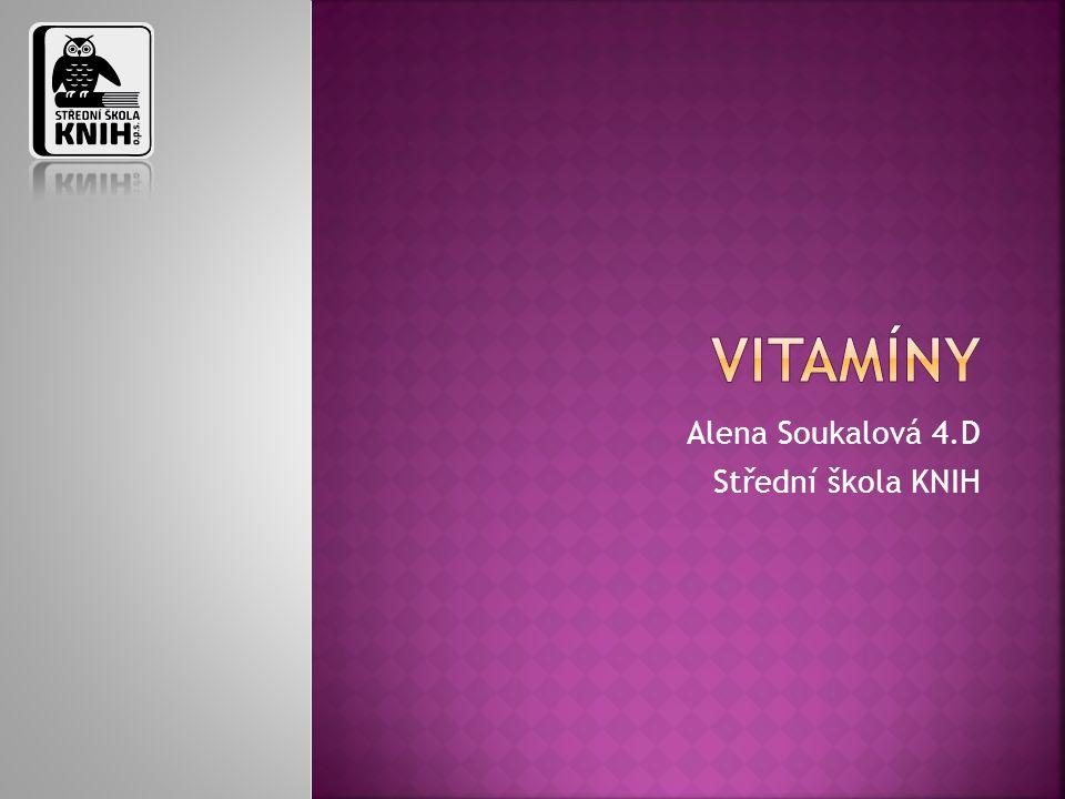  Obecné informace o vitamínech  Rozdělení vitamínů  Příjem vitamínů  Poruchy související s vitamíny  Minerály  Závěr