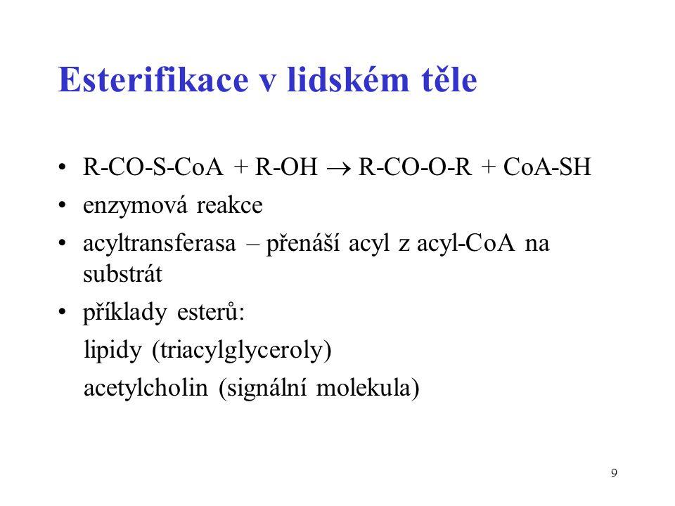20 Diestery kyseliny fosforečné jsou spojovacími elementy ve fosfolipidech