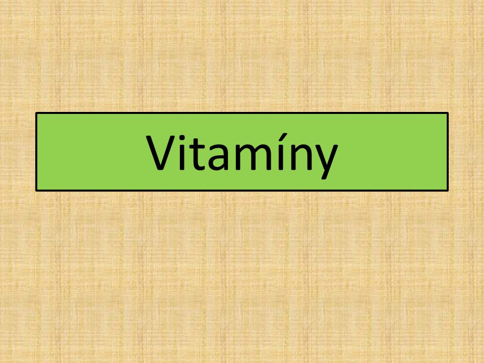 Význam -látky nezbytné pro život -funkce biokatalyzátorů (urychlovače biochemických reakcí) -malá denní potřeba -většinu vitamínů si člověk nedokáže vyrobit -hypovitaminóza = nedostatek vitamínů -hypervitaminóza = nadbytek vitamínů Dělení podle rozpustnosti: a) rozpustné v tucích b) rozpustné ve vodě