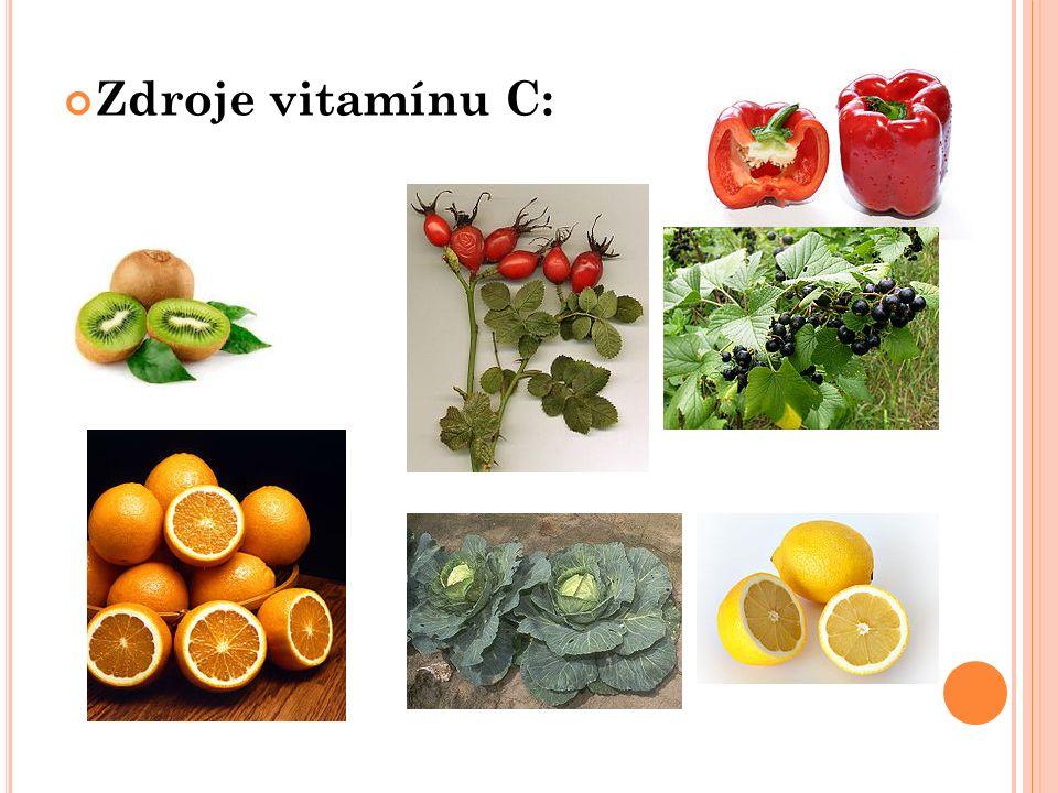 Zdroje vitamínu C: