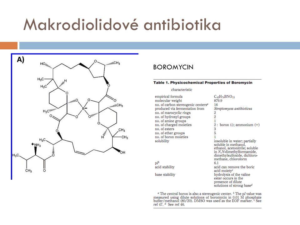 Makrodiolidové antibiotika BOROMYCIN