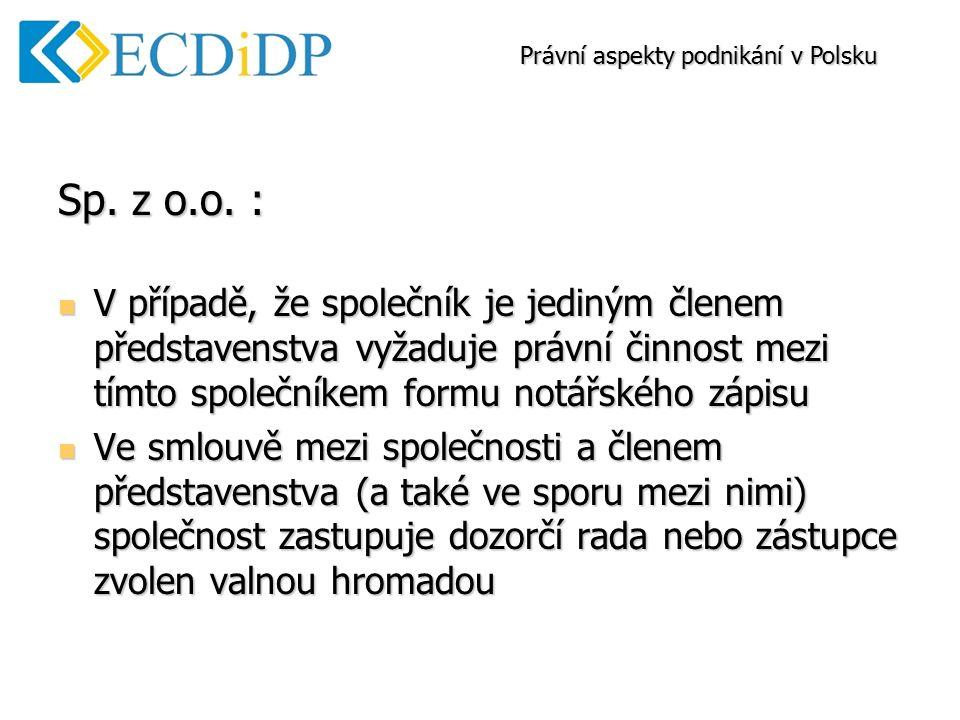 Sp. z o.o.