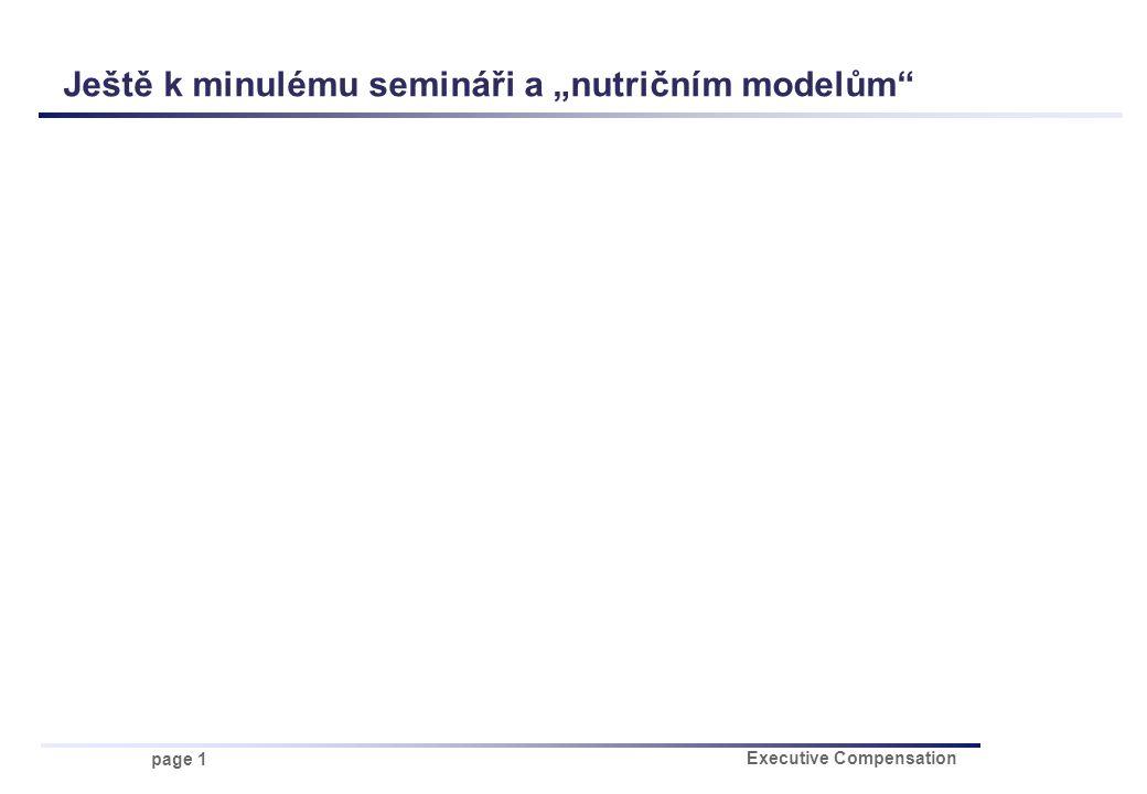 """page 1 Executive Compensation Ještě k minulému semináři a """"nutričním modelům"""