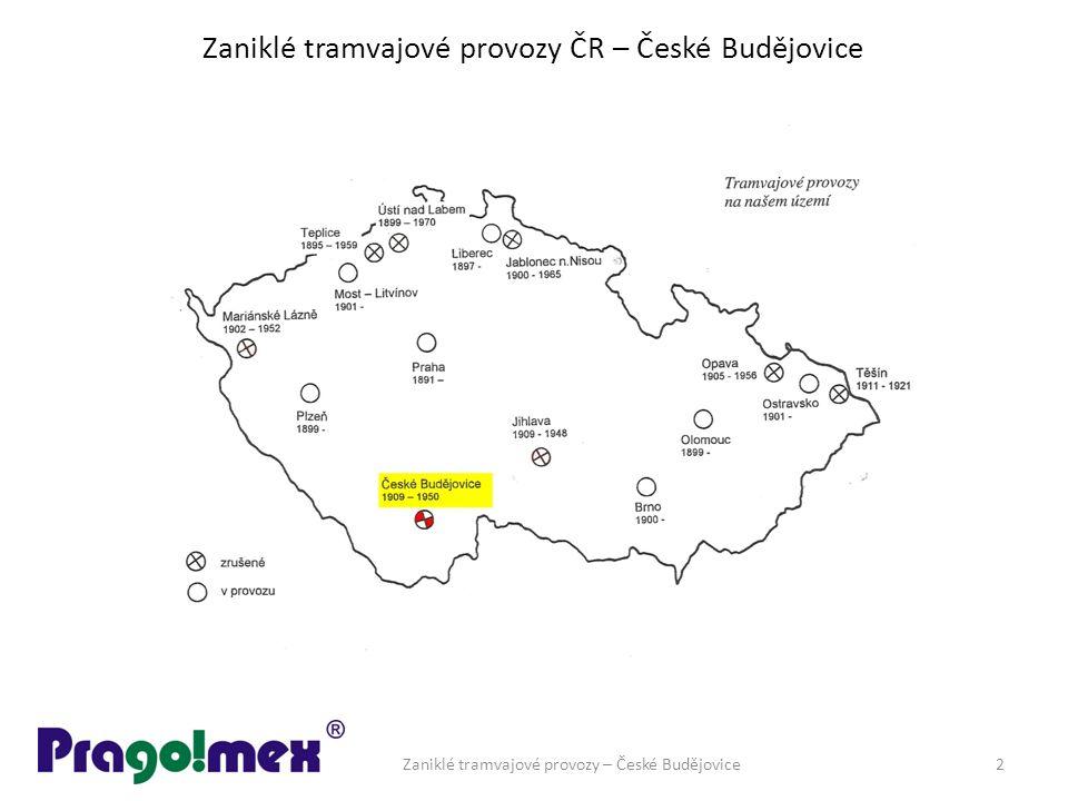 Zaniklé tramvajové provozy ČR – České Budějovice Zaniklé tramvajové provozy – České Budějovice2