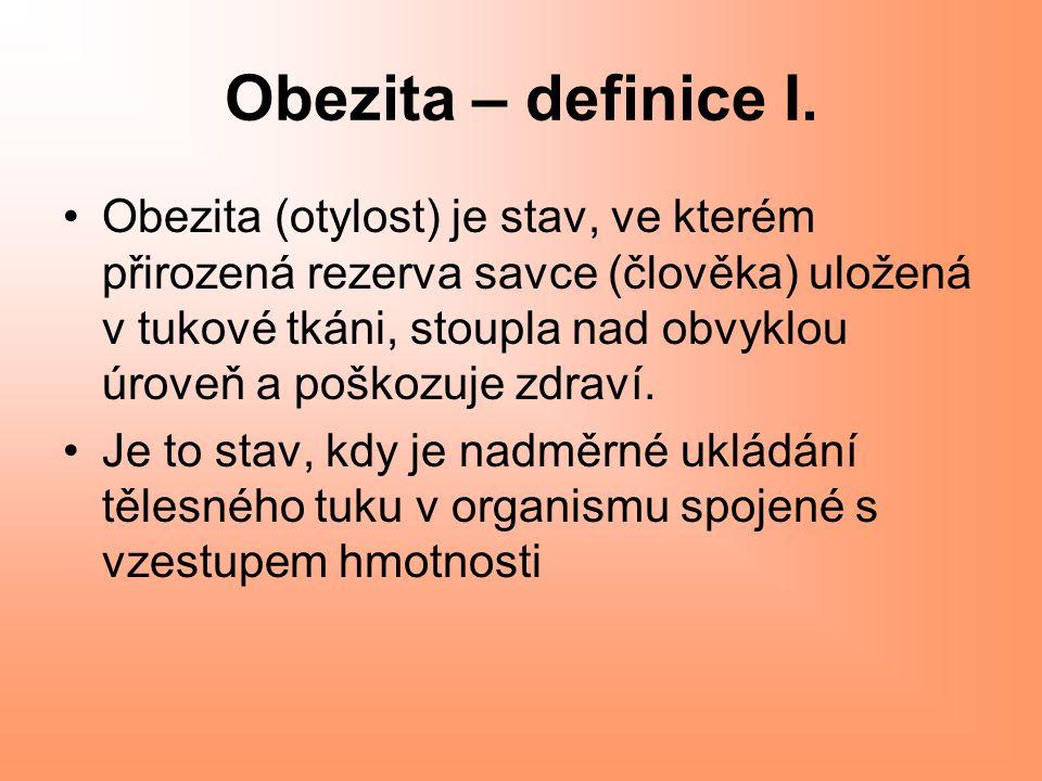 Obezita – definice I.