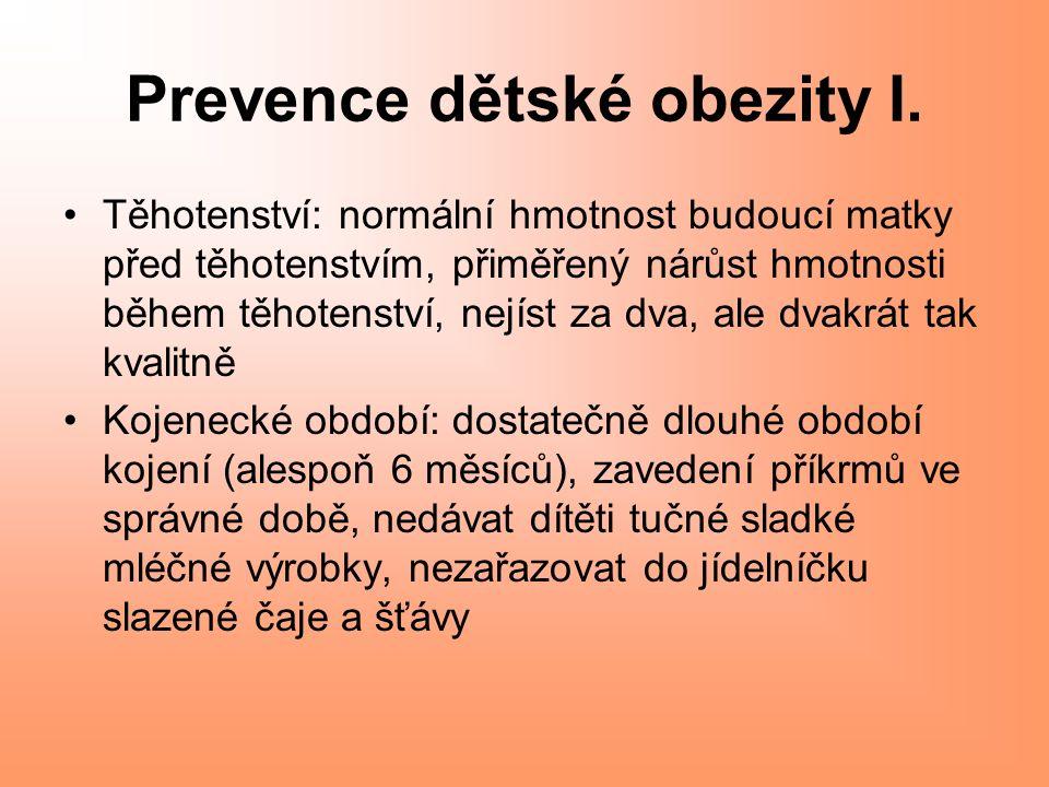 Prevence dětské obezity I.