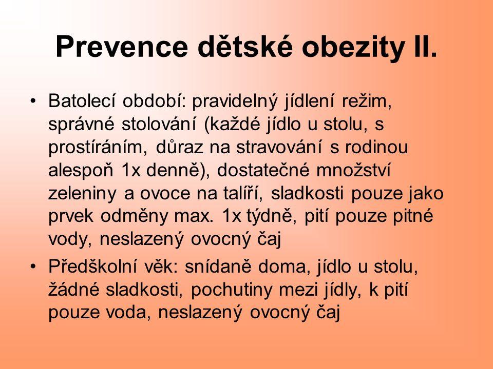 Prevence dětské obezity II.