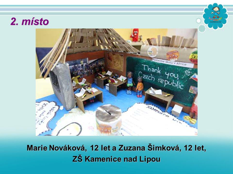 Marie Nováková, 12 let a Zuzana Šimková, 12 let, ZŠ Kamenice nad Lipou 2. místo