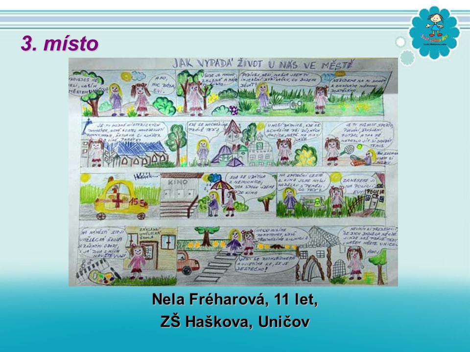 Nela Fréharová, 11 let, ZŠ Haškova, Uničov 3. místo