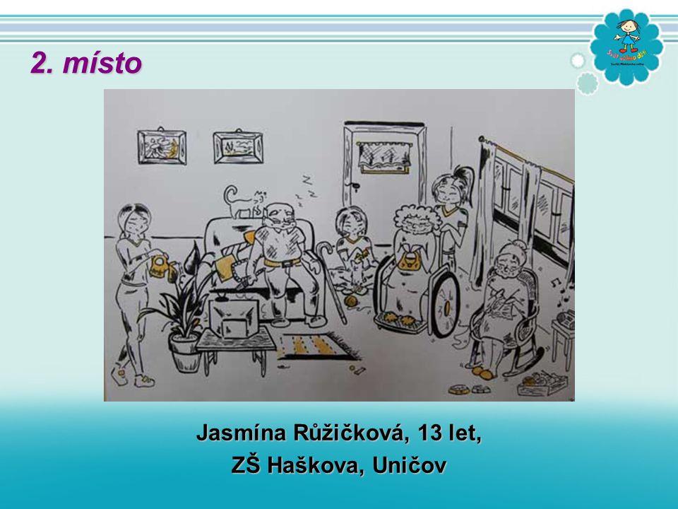 Jasmína Růžičková, 13 let, ZŠ Haškova, Uničov 2. místo