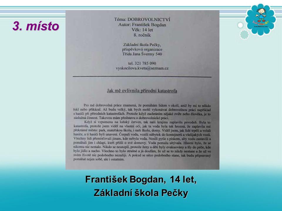 František Bogdan, 14 let, Základní škola Pečky 3. místo