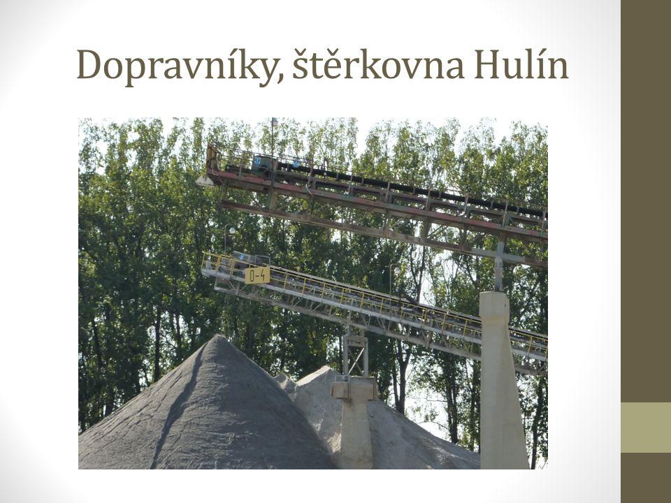Dopravníky, štěrkovna Hulín