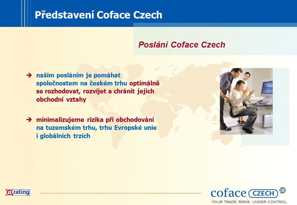 YOUR TRADE RISKS, UNDER CONTROL. Představení Coface Czech  naším posláním je pomáhat společnostem na českém trhu optimálně se rozhodovat, rozvíjet a