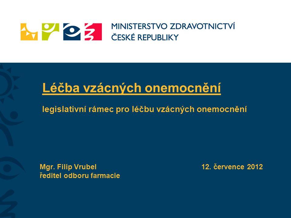 2 Léčba vzácných onemocnění Legislativní rámec léčby vzácných onemocnění Směrnice Evropského parlamentu a Rady č.