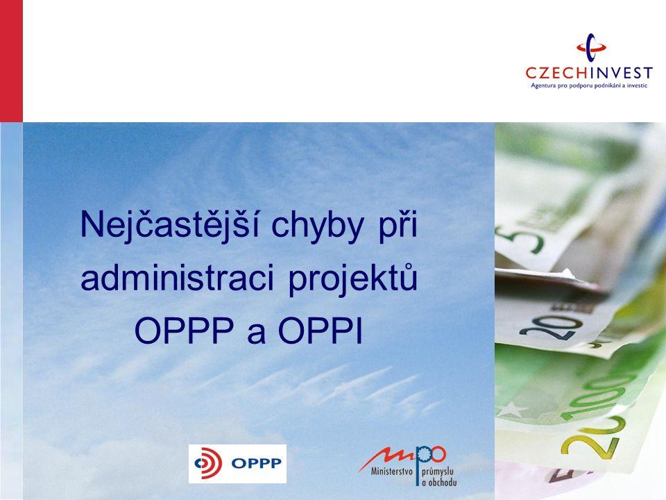 Nejčastější chyby při administraci projektů OPPP a OPPI