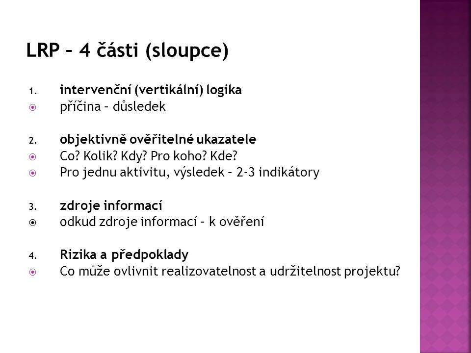 1. intervenční (vertikální) logika  příčina – důsledek 2.