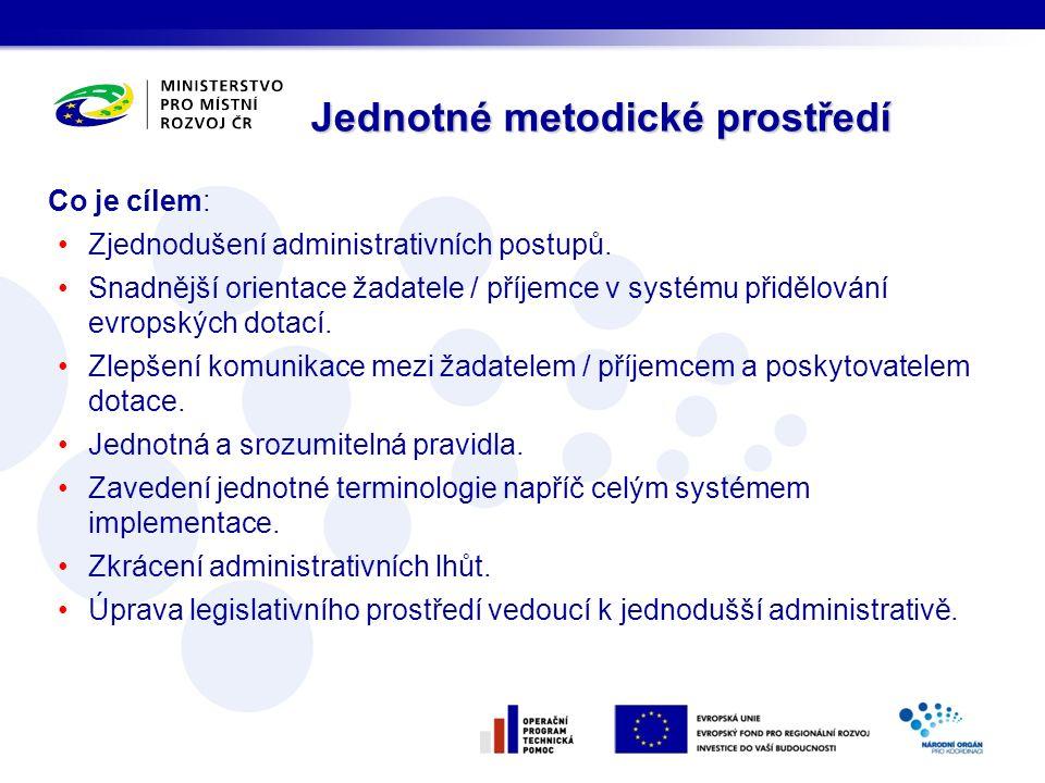 Co je cílem: Zjednodušení administrativních postupů.