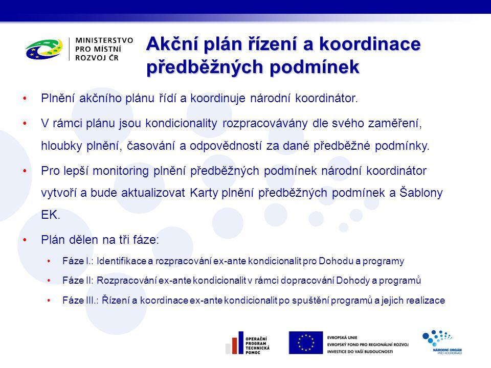Plnění akčního plánu řídí a koordinuje národní koordinátor.