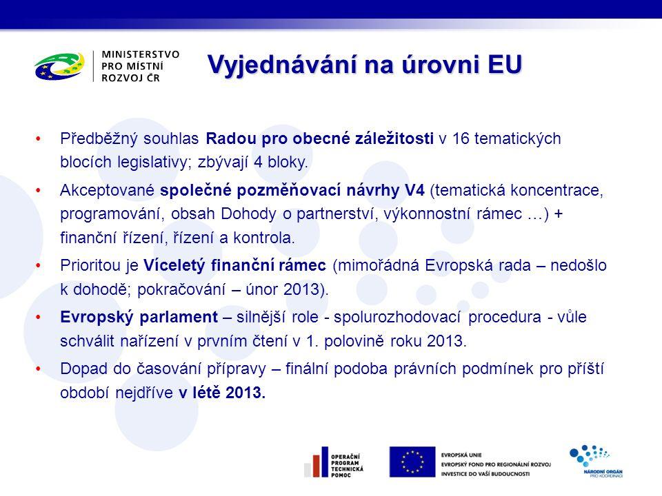 Silnější postavení – řádný legislativní postup (v podstatě spolurozhodovací procedura) oproti souhlasu pro legislativu na období 2007-2013.