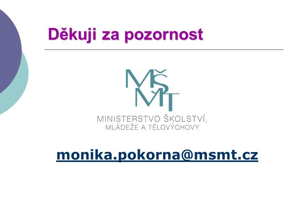 Děkuji za pozornost monika.pokorna@msmt.cz
