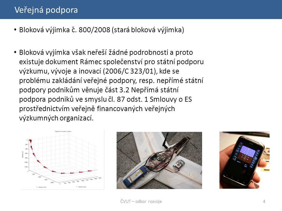 Veřejná podpora ČVUT – odbor rozvoje4 Bloková výjimka č.