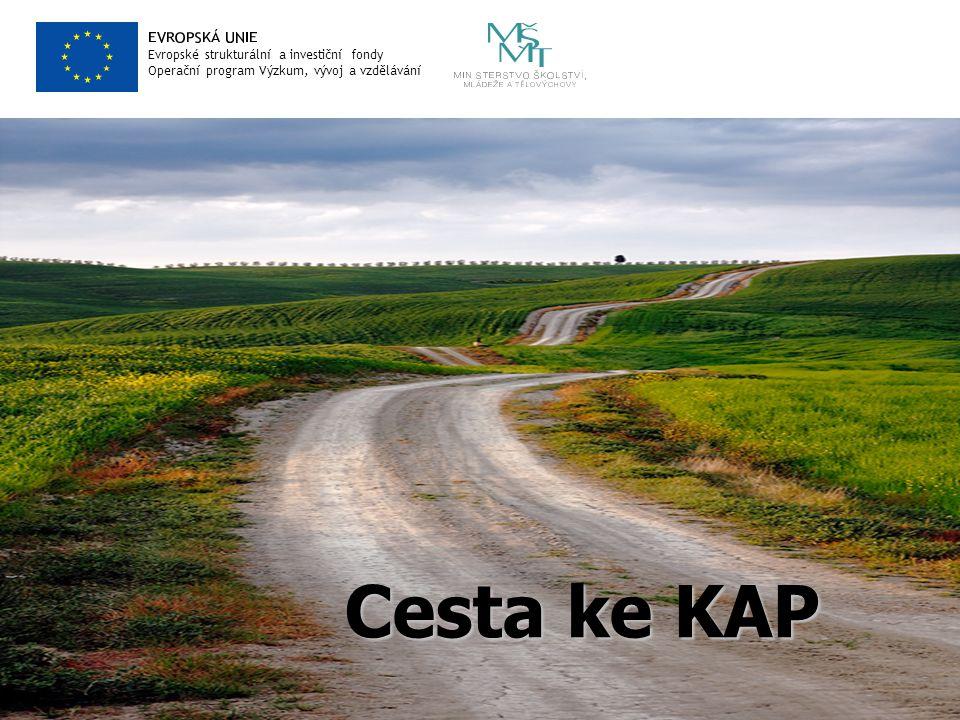 Evropské strukturální a investiční fondy Operační program Výzkum, vývoj a vzdělávání Cesta ke KAP