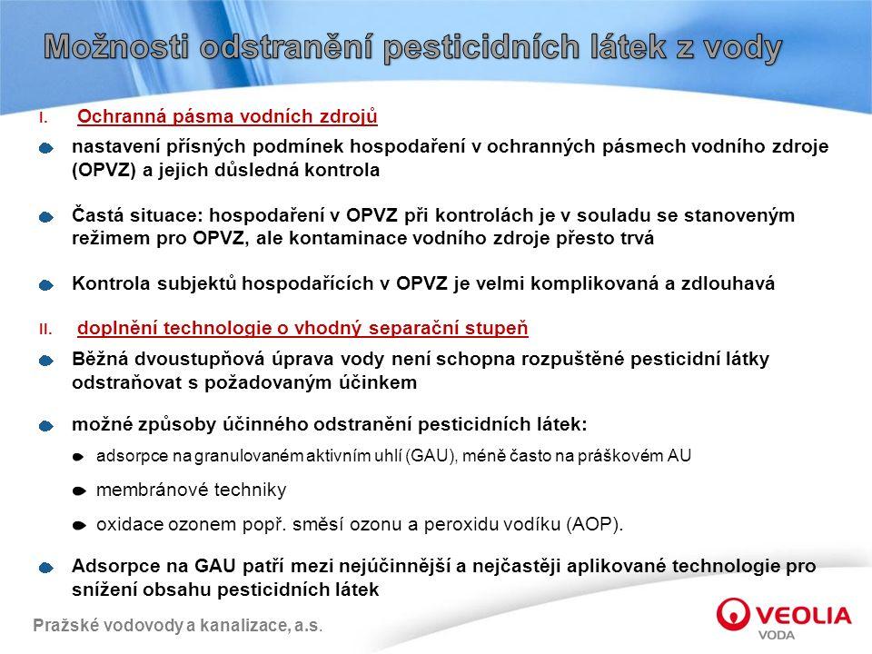 Pražské vodovody a kanalizace, a.s. I.