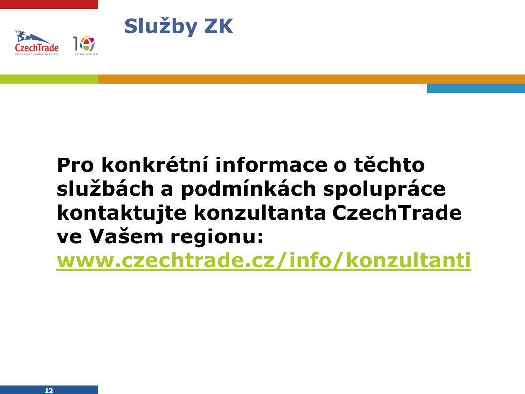 CzechTrade Dittrichova 21, 128 01 Praha 2 Tel.: 224 907 500 Fax: 224 907 503 E-mail: info@czechtrade.cz www.czechtrade.cz DĚKUJI VÁM ZA POZORNOST.