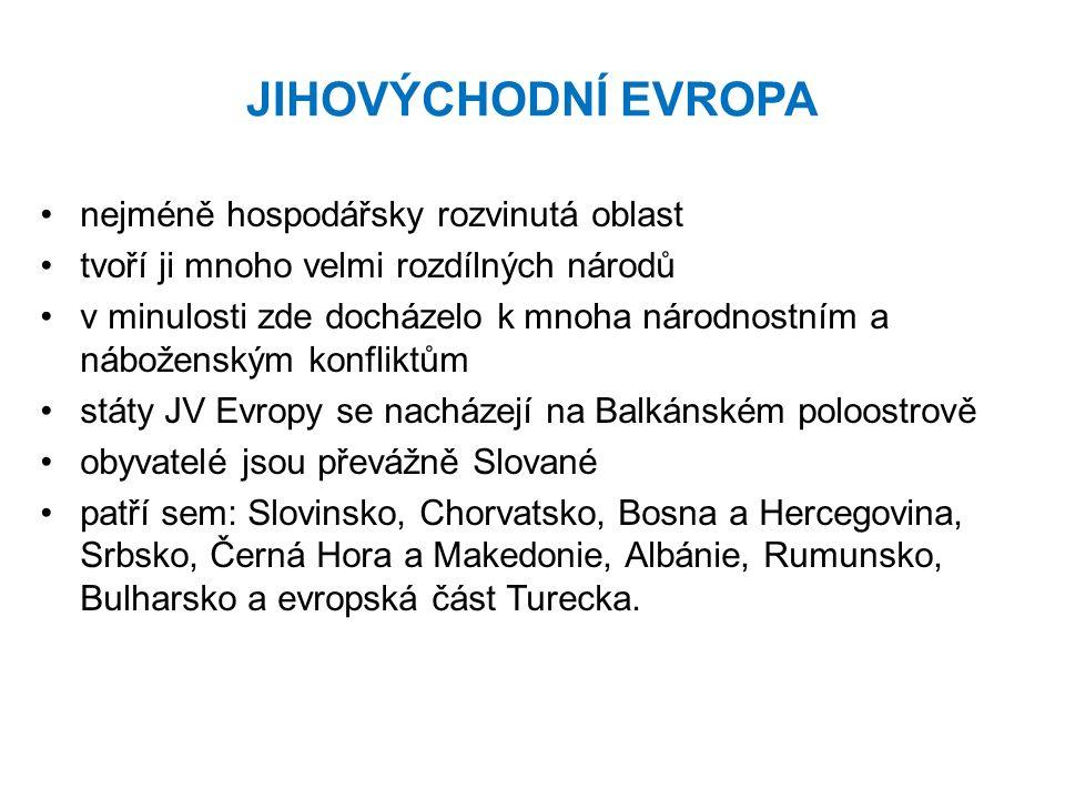 SLOVINSKO (republika) je hospodářsky nejvyspělejší země z této oblasti úředním jazykem je slovinština náboženství: křesťanství měna: 1 euro  hlavním městem je LUBLAŇ