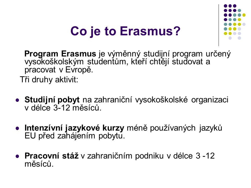 Co je to Erasmus.