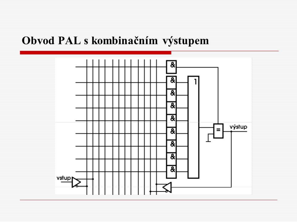 Obvod PAL s kombinačním výstupem