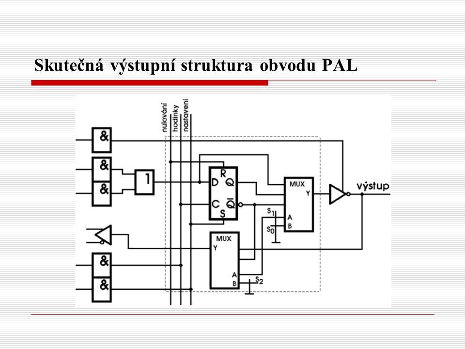 Skutečná výstupní struktura obvodu PAL