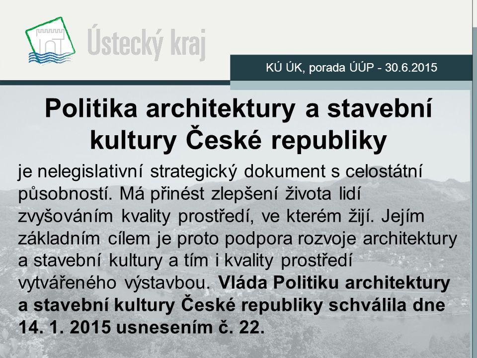 Politika architektury a stavební kultury České republiky je nelegislativní strategický dokument s celostátní působností.
