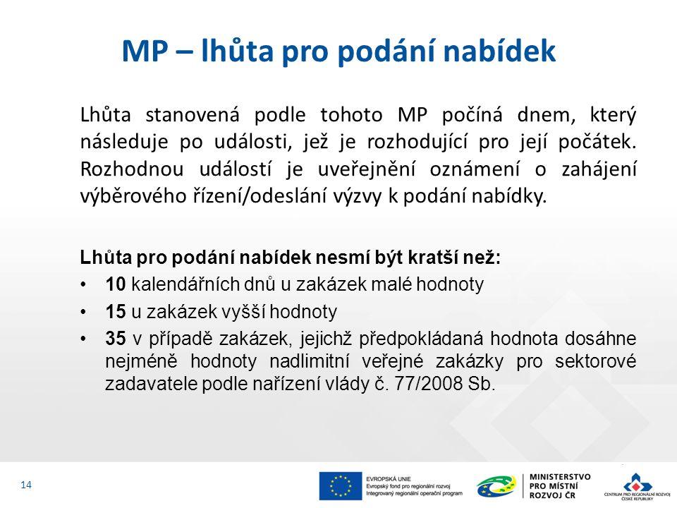 Lhůta stanovená podle tohoto MP počíná dnem, který následuje po události, jež je rozhodující pro její počátek.