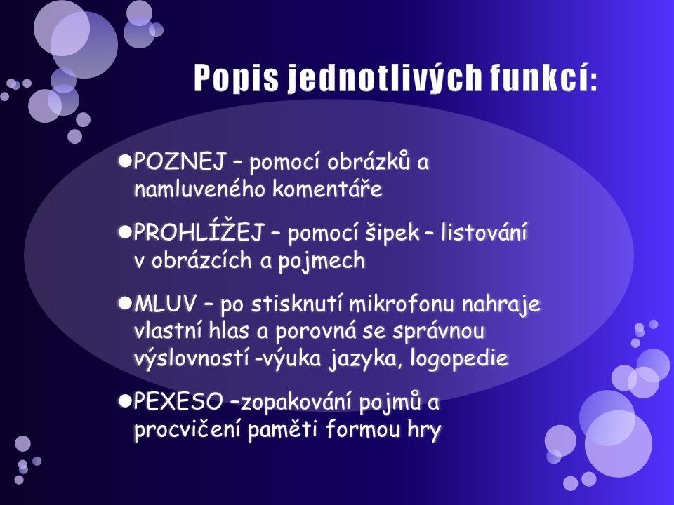 MATEMATIKA příklady (od PMQ software) přehledné prostředí v češtině, doprovázené mluveným slovem přehledné prostředí v češtině, doprovázené mluveným slovem některá témata zdarma, zbytek za poplatek některá témata zdarma, zbytek za poplatek 3 stupně použití : JAK NA TO – žák se učí pochopit příklad spolu s mluveným komentářem JAK NA TO – žák se učí pochopit příklad spolu s mluveným komentářem PROCVIČOVÁNÍ – výběr z několika odpovědí PROCVIČOVÁNÍ – výběr z několika odpovědí ZKOUŠENÍ NA ČAS – na konci přehledné vyhodnocení ZKOUŠENÍ NA ČAS – na konci přehledné vyhodnocení